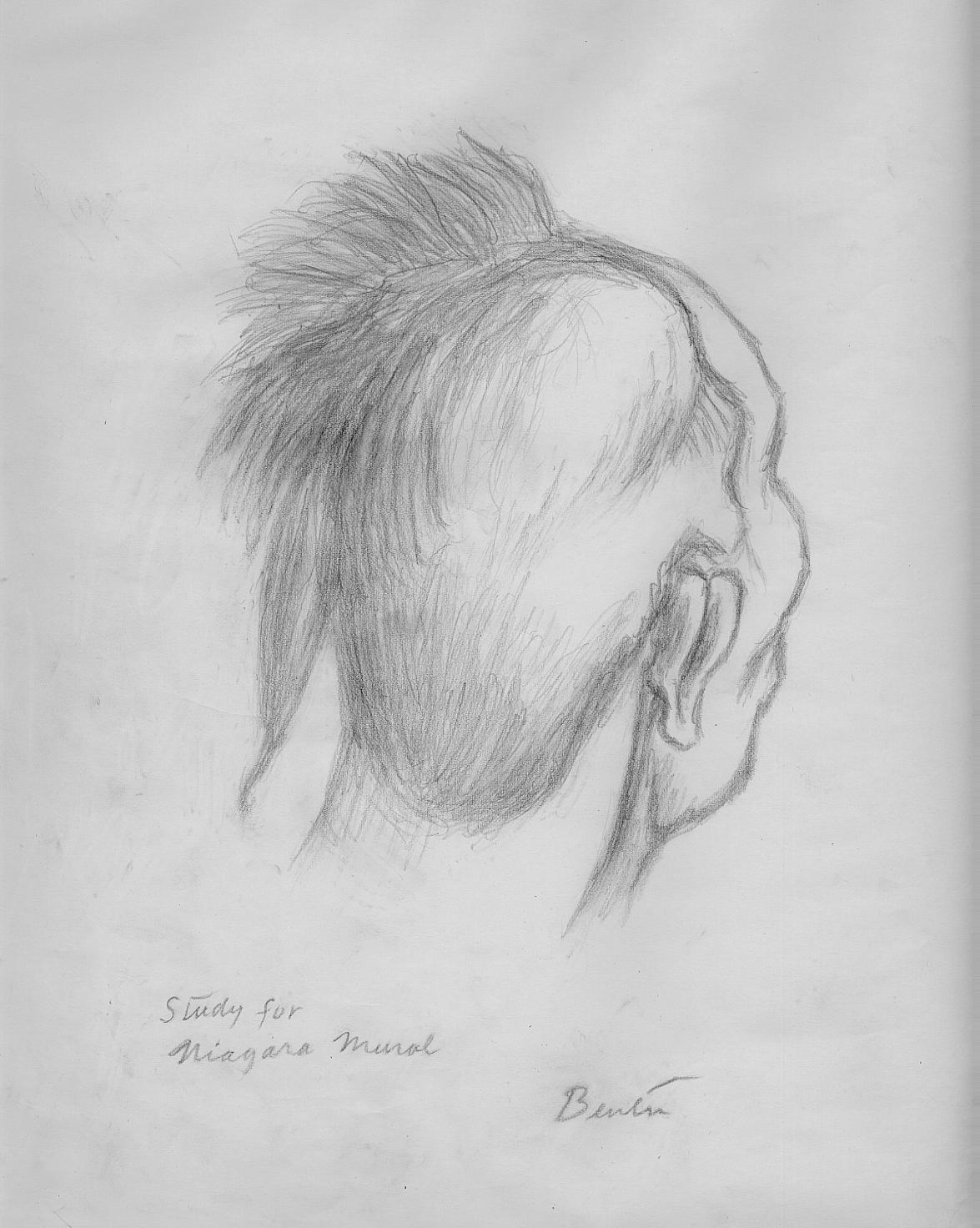 Eagle Feather Pencil Drawing Pencil drawing  circa 1960 Eagle Feather Pencil Drawing
